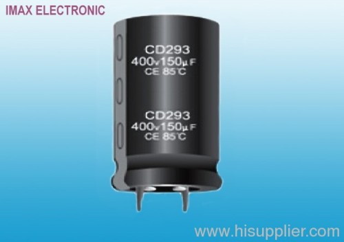 CD293 aluminum electrolytic capacitor-Snap In