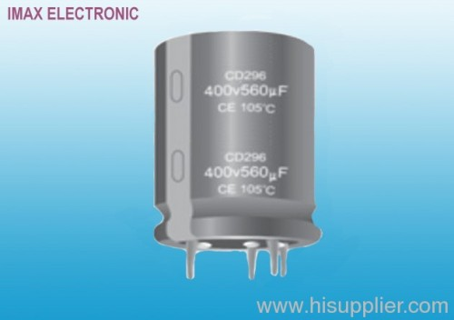 CD296 aluminum electrolytic capacitor-Snap In