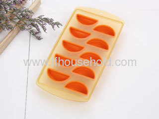 cool ice cube tray orange ice mould