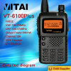 Best Selling Amateur Ham Radio Walkie Talkie VT-6100PLUS
