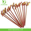 4.25 Inch Chocolate Color Flexible Knotted Bamboo Skewers