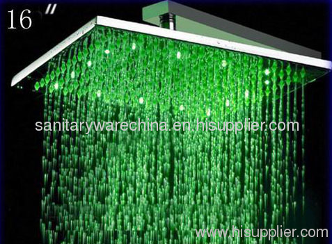 New Design Durable Led 3 Color Rain Fall Shower Head