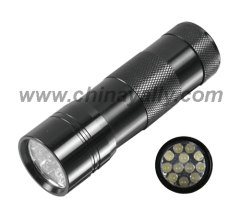 Aluminum 12 LED flashlights