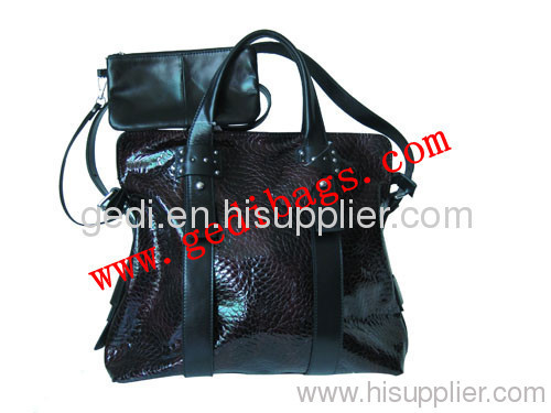 lady fashionable leather handbags factory
