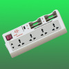 Universal USB & battery charger power socket