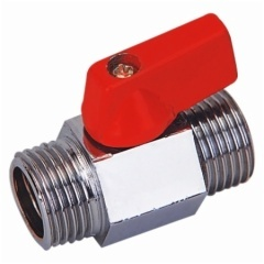 Brass Male Thread Mini Ball Valve With Chrome Plated