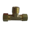Brass Male Threaded Tee Fittings With Nut