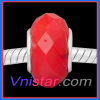 Silver plated core light siam faced wholesale murano glass bead PGB619-2