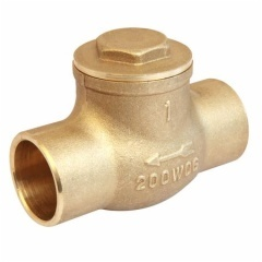 Brass Swing Check Valve With Solder End
