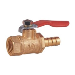 Brass Mini Female Threaded Ball Valve With Hose Brab