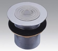 Brass Chrome Plated Waste Drain With Rubber Plug