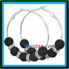 Vnistar shamballa crystal disco ball basketball wives earring hoop earring