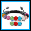 Cheap shamballa bracelet wholesale with multicolor crystal stones