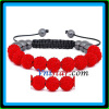 Disco ball shamballa bracelets 10mm crystal bracelet red wholesale