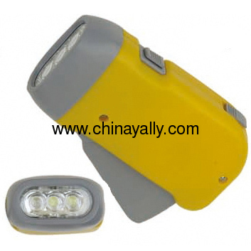 3 LED Dynamo Torch Flashlight
