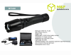Power light 5 mode cree led torch lighting zoomable zoom in/out set