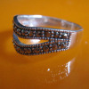925 Thai silver ring,sterling Thai silver jewelry,marcasite ring