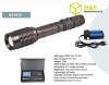 10Watt cree t6 led zooming focus flashlight rechargeable battery torch light