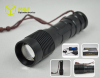 Focusing high power cree xml t6 led flash light 10W rechargeable zoom torch light