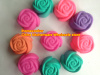 silicone rose shape muffin case
