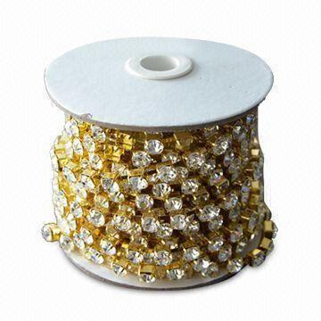 Rhinestone/Crystal/Strass Cup Chains Made of H65 Environment Brass