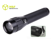 3D Zoomable multifunctional CREE 3W led flashlight