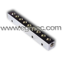 70 Degree Carbon Steel Chrome Plated Junction Bar Manifold