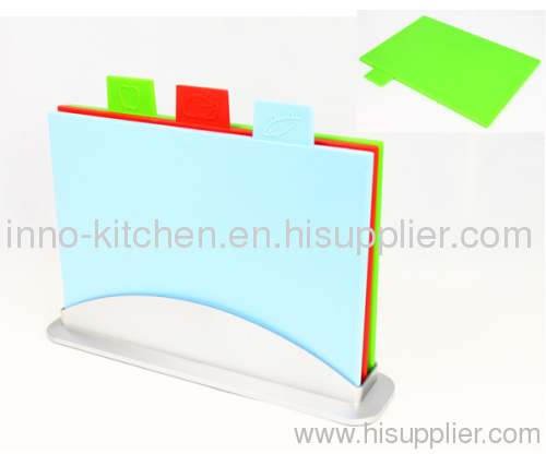 Plastic Color Coded Rectangle Index Chopping Board, Set of 3