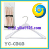 white wooden clothes hanger