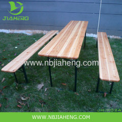 beer garden tables and benches