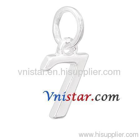 Wholesale silver plated number charms 7 UC285-7