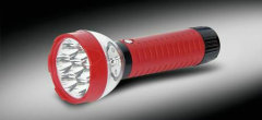 7pcs LED red rechargeable flashlight