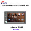 2Din Universal Car DVD Navigation BT Radio USB SD Ipod RDS Canbus AM/FM Tuner HD Touchscreen