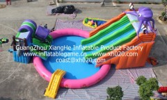 2012 Hot sale commercial pvc tarpaulin inflatable octopys slide