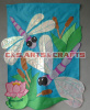 Custom made appliqued garden flag