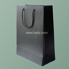 200 gsm Black Art Paper Bag-Shopping bag