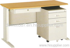wooden protect side office desk