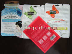 Shaped packaging pouch bag for facial mask