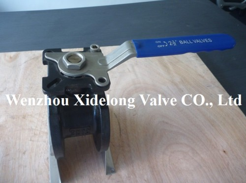 Wafer ball valve with ISO5211 Mounting Pad(Cast steel Body)