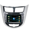 In-dash HYUNDAI Verna Car DVD GPS Navigation with 7inch HD digital full touch screen