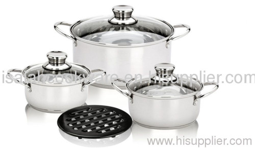 7pcs straight body cookware set
