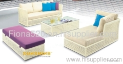 hot selling cheap price high quality outdoor furniture PE rattan/wicker garden sofa