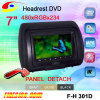 7 inch analog screen Headrest DVD Monitor Detachble Panel Detachble cover