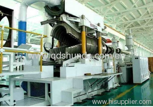600mm HDPE double wall corrugated pipe extrusion machine
