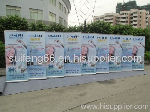 High quality double-side pull up banner stand