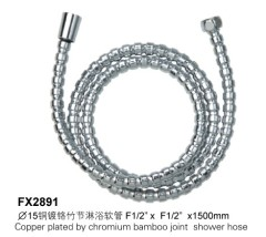 Copper Plated By Chromium Bamboo Joint Shower Hose