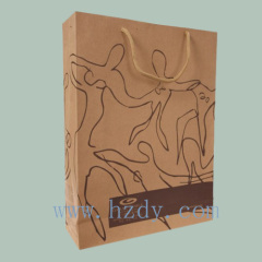 Printed Brown Kraft paper bag
