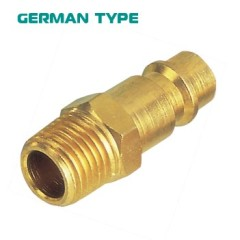 Germany Type Brass Male Quick Coupling Plug