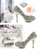 new stylish luxurious high heel wedding bridal shoes for lady FX-YJR07123