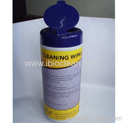 Household wet cleaning wipes